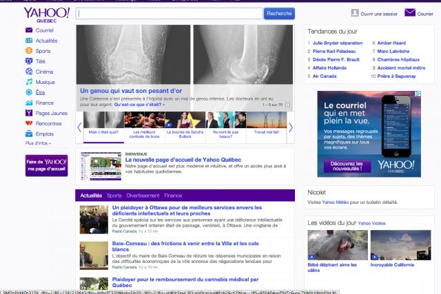 Yahoo est le cinquième site le plus fréquenté...