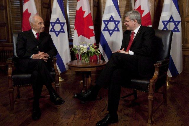 Le premier ministre Stephen Harper recevait le président... (PHOTO ADRIAN WYLD, ARCHIVES LA PRESSE CANADIENNE)