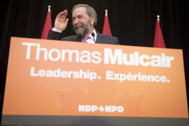 Thomas Mulcair, le chef du NPD.... (PHOTO ADRIAN WYLD, ARCHIVES LA PRESSE CANADIENNE)