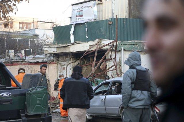 Le restaurant visé, La Taverna du Liban, est... (Photo Rahmat Gul, AP)