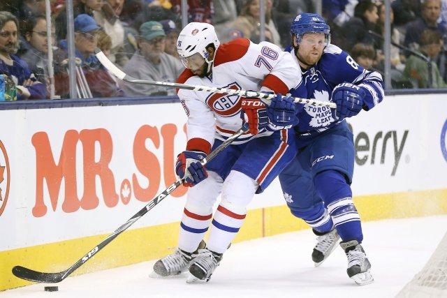 Le défenseur du Canadien P.K. Subban est poursuivi... (Photo Tom Szczerbowski, USA Today)