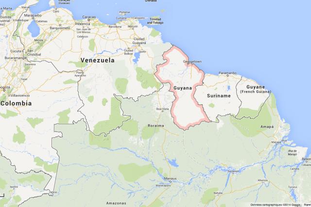Un pilote canadien et un affréteur guyanais ont probablement trouvé la mort... (Photo Google Maps)