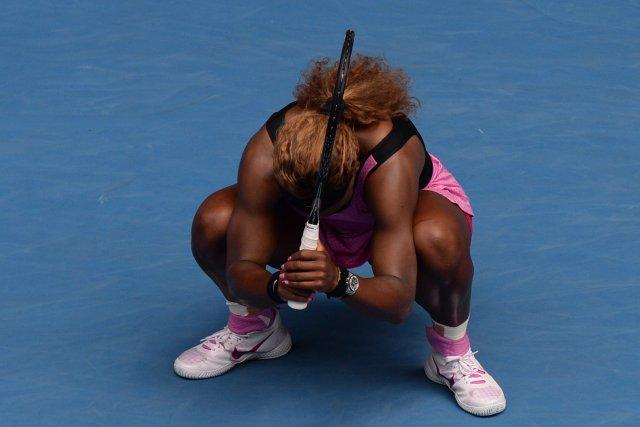 Serena Williams n'a pu passer le seuil des... (PHOTO MAL FAIRCLOUGH, AFP)