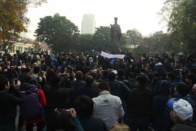 Il s'agit de la première manifestation anti-chinoise cette... (Photo HOANG DINH NAM, AFP)