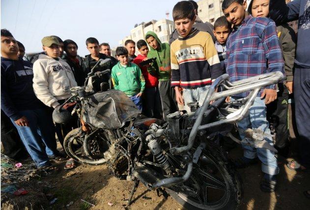 L'attaque a visé un Palestinien de 22 ans,... (Photo Hatem Moussa, AP)