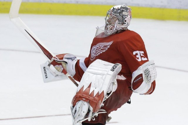 Jimmy Howard n'a pas accordé de but face... (PHOTO CARLOS OSORIO, AP)