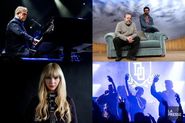 Elton John,Guy Nadon etFrancois Archambault (veste bleue),Kandle etles... (PHOTOMONTAGE LA PRESSE)