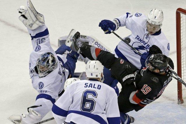 Le Montréalais Mark Barberio a inscrit ses deux premiers buts en carrière dans... (Photo: AP)
