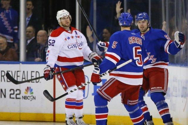 Rick Nash a inscrit deux des trois buts des Rangers en première période et... (Photo: Reuters)