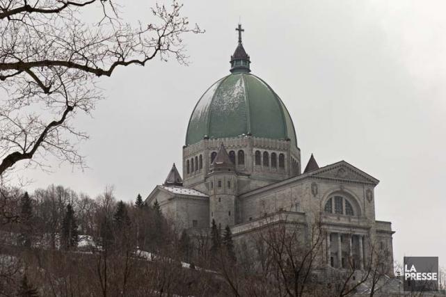 1930 - La première pierre est posée à l'oratoire Saint-Joseph, à Montréal,... (Photo: Robert Skinner, La Presse)