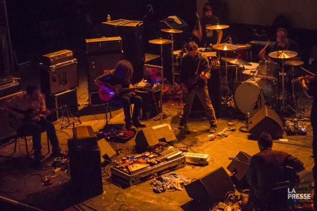 Godspeed You! Black Emperor au Metropolis samedi soir.... (Photo: Olivier Pontbriand, La Presse)