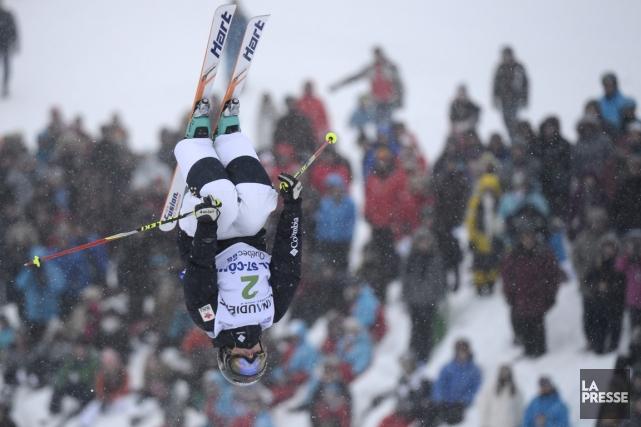 Justine Dufour-Lapointe a remporté la Coupe du monde... (Photo Bernard Brault, La Presse)