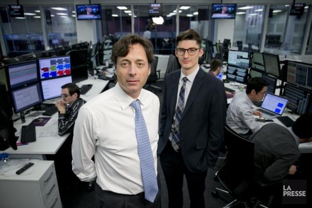 Richard Audet (à gauche), directeur général d'OSTC-Canada, et... (PHOTO DAVID BOILY, LA PRESSE)