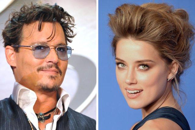 La star hollywoodienne Johnny Depp et l'actrice américaine Amber Heard se sont... (Photo: AFP)
