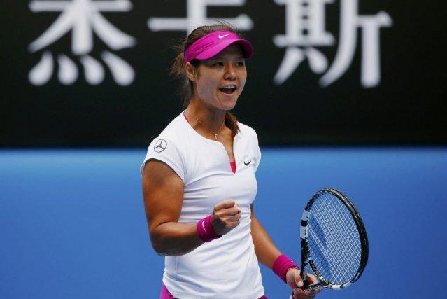 Li Na, tête de série N.4, s'est qualifiée pour les demi-finales de l'Open... (Photo: Reuters)