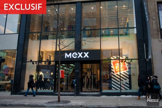 Ce magasinMexxsur deux étages au 1125, rue Sainte-Catherine... (PHOTO ANDRÉ PICHETTE, LA PRESSE)