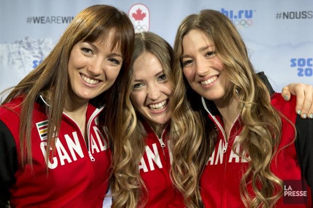 Les soeurs Maxime, Justine et Chloé Dufour-Lapointe ont... (Photo Robert Skinner, La Presse)