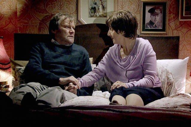 Roy et Hayley Cropper, incarnés par David Neilson... (Photo: AP)