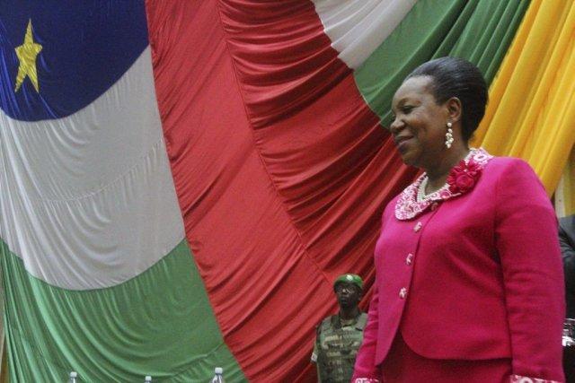 La maire de Bangui a été élue lundi... (Photo AP)