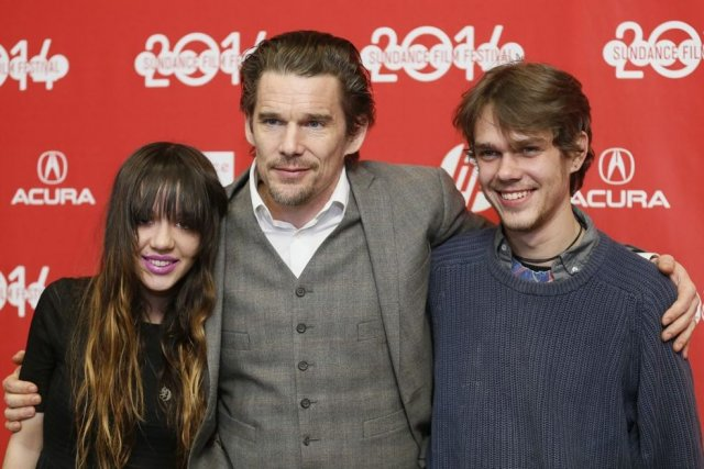 Lorelei Linklater, Ethan Hawke et Ellar Coltrane, vedettes... (Photo: AP)