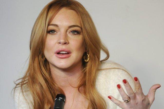 Lindsay Lohan en conférence de presse à Sundance.... (Photo: AP)