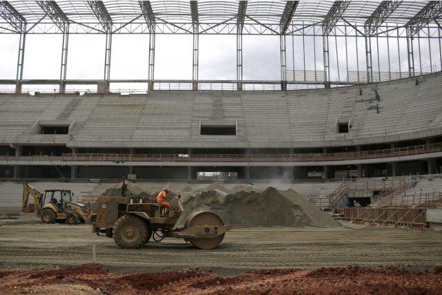 Le stade Arena de Baixada de Curitiba, avec... (Photo Renata Brito, AP)