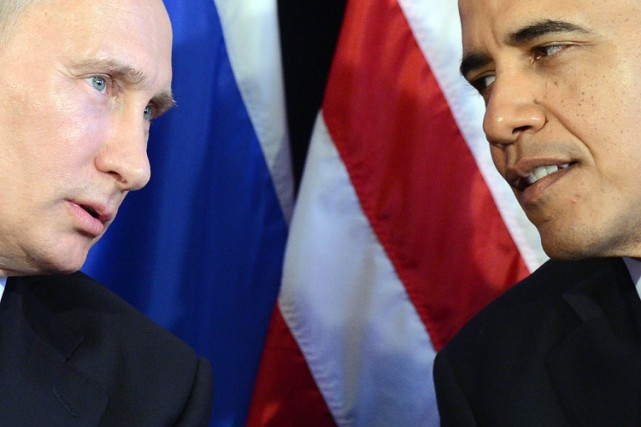 Vladimir Poutine et Barack Obama en marge du sommet... (Photo: AFP)