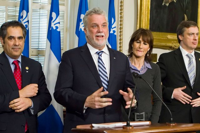 Le chef du Parti libéral, Philippe Couillard, a... (Photo La Presse Canadienne)