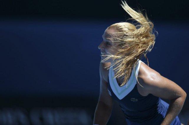 Dominika Cibulkova a remporté les huit derniers jeux pour se débarrasser de... (Photo: AFP)