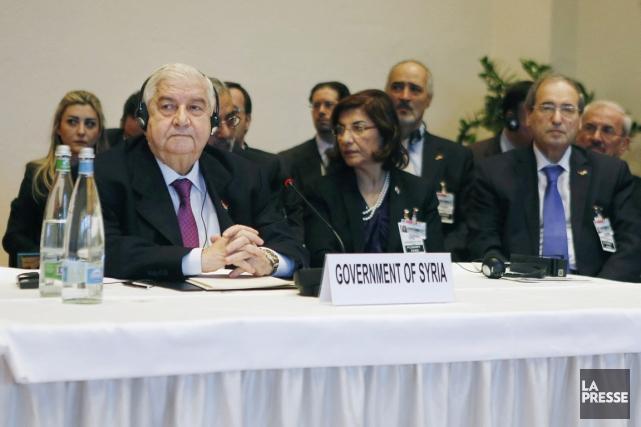 Le ministre syrien des Affaires étrangères Walid Mouallem... (PHOTO GARY CAMERON, ARCHIVES AP)