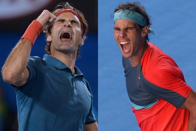 Roger Federer et Rafael Nadal s'affronteront pour la... (Photos Greg Wood, AFP)