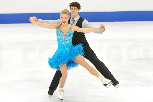 Les danseurs canadiens Piper Gilles et Paul Poirier.... (Photo Mandy Cheng, AFP)
