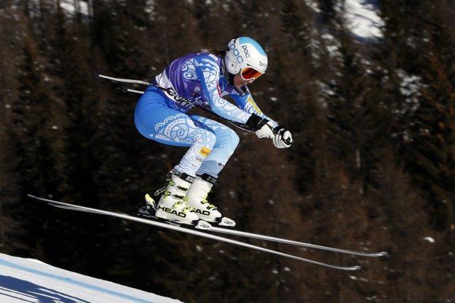 L'Américaine Julia Mancuso a été la plus rapide... (Photo Marco Trovati, AP)
