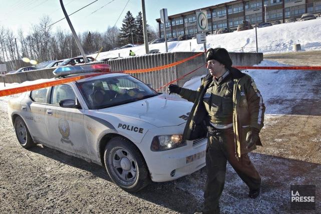 Le policier de la SQ aurait fait feu... (Photo Patrick Sanfaçon, La Presse)