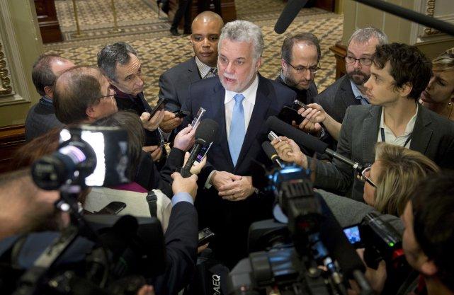 Le chef du PLQ, Philippe Couillard.... (Photo Jacques Boissinot, La Presse Canadienne)