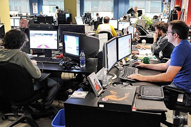Le studio d'Ubisoft à Québec.... (Photothèque Le Soleil)