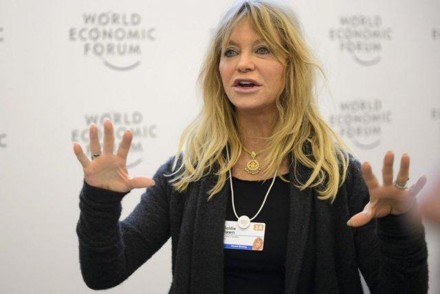 Goldie Hawn à Davos.... (Photo: AP)