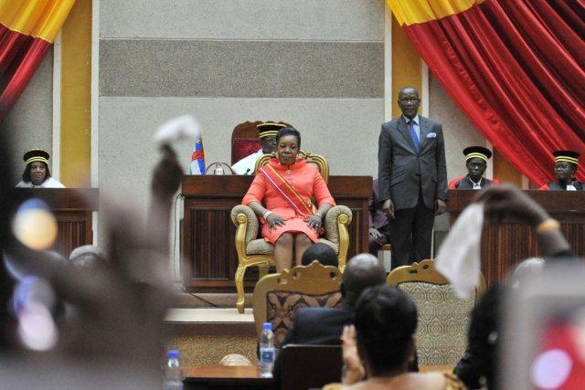 MmeSamba Panza, 59 ans, première femme à accéder... (PHOTO ISSOUF SANOGO, AFP)