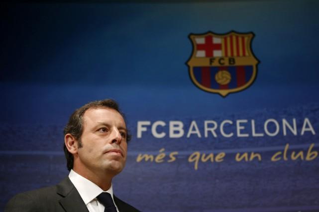 Le président du FC Barcelone, Sandro Rosell.... (Photo Albert Gea, archives Reuters)