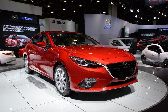 La nouvelle Mazda3 berline 2014... (Photo Stan HONDA, AFP)