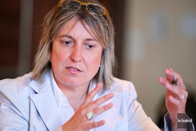 Martine Hébert, la vice-présidente principale de la FCEIpour... (PHOTO YAN DOUBLET, LE SOLEIL)