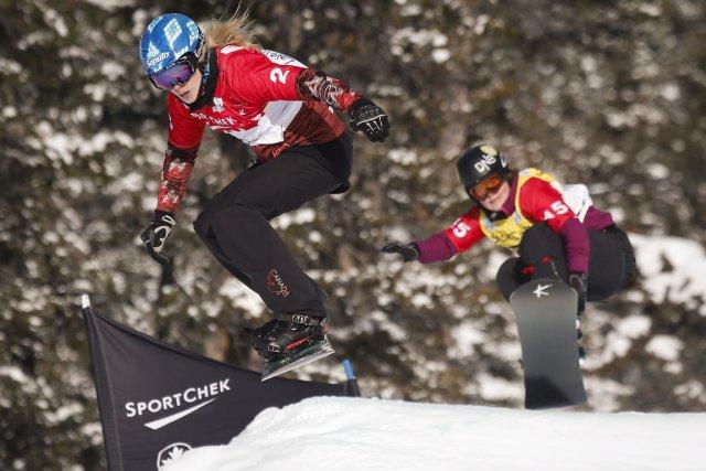 Dominique Maltais a terminé 12e, à l'épreuve de... (Photo Jeff McIntosh, La Presse Canadienne)