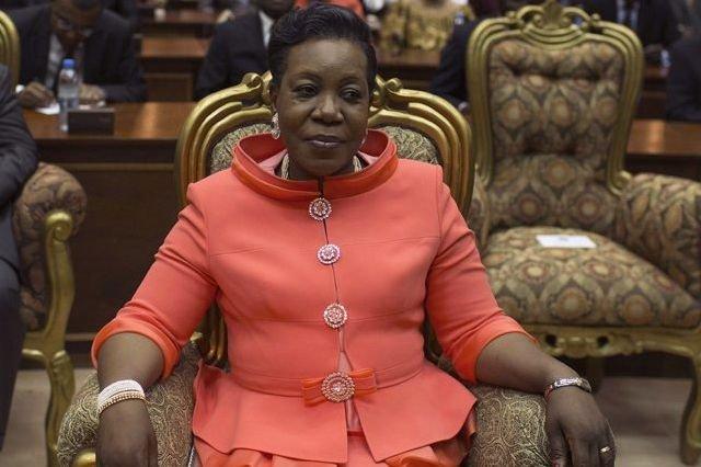 la présidente de transition centrafricaine Catherine Samba Panza... (PHOTO SIEGFRIED MODOLA, RUETERS)