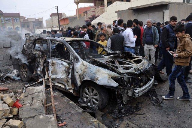 Trois attentats à la voiture piégée ont eu... (Photo MARWAN IBRAHIM, AFP)