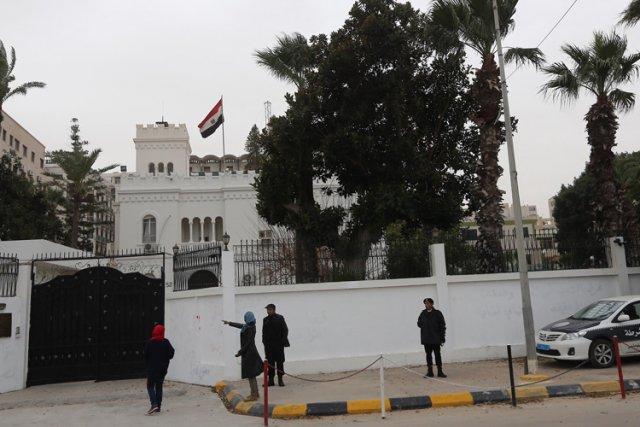 L'ambassadeur d'Égypte en Libye et des dizaines de... (Photo: AFP)
