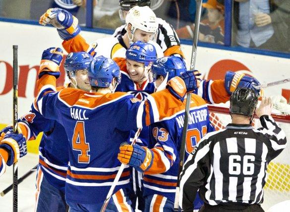 Ryan Smyth a amassé un but et une aide pour permettre aux Oilers d'Edmonton de... (Photo: PC)