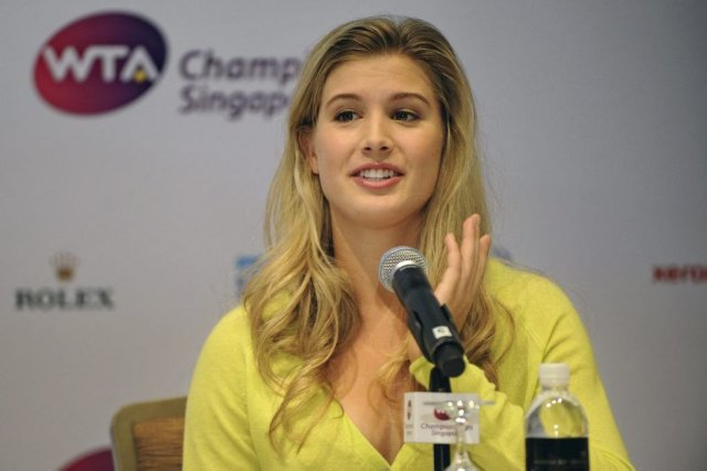 Eugenie Bouchard... (Photo AFP)