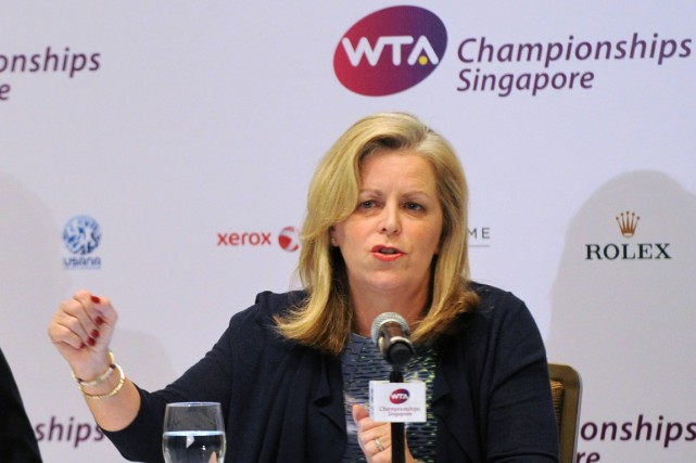 La présidente de la WTA, Stacey Allaster.... (Photo Roslan Rahman, archives AFP)