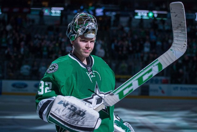 Le gardien Kari Lehtonen des Stars de Dallas... (Photo Jerome Miron, archives USA Today)