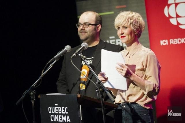 Laurent Paquin et Pénélope McQuade ont annoncé les... (Photo: Édouard Plante-Fréchette, La Presse)